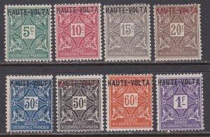 Upper Volta Sc #J1-J8 Mint Hinged