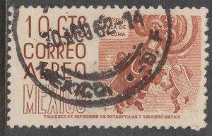 MEXICO C219, 10¢ 1950 Definitive 2nd Printing wmk 300 USED. F-VF. (672)