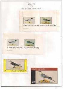 SCOTLAND - STAFFA - 1982 - Birds #9 - Perf, Imp 2v, Souv, D/L Sheets - MLH