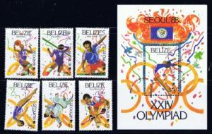 Belize 899-905 NH 1988 Olympics