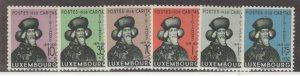 Luxembourg Scott #B92-B97 Stamps - Mint Set