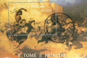 ST THOMAS & PRINCE ISLANDS 1218 SS USED SCV $8.00 BIN $4.00 MOVIE STARS
