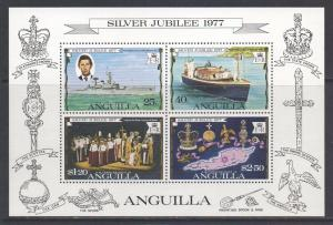 Anguilla Scott 274a, 1977 Silver Jubilee Mini Sheet MNH**