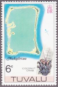Tuvalu 27 Map of Nukufetau 1976