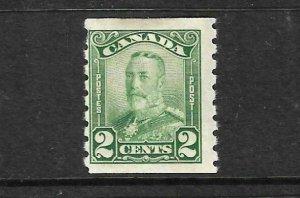 CANADA 1929  2c  KGV COIL  MLH  Sc 161