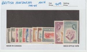 British Honduras 144-55 VF MNH