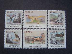Mozambique 2009 MNH Dinosaurs Charles Darwin