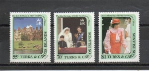 Turks and Caicos 531-533 MNH