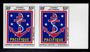 New Caledonia (NCE) Scott C201 MNH** Imperforate Army Day stamp pair