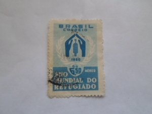 BRASIL STAMP USED NO HINGE MARKS # 15