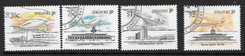 SINGAPORE SG656/9 1991 CIVIL AVIATION USED