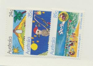 Australia Scott #882 To 884, Mint Never Hinged MNH, Christmas Issue From 1983...