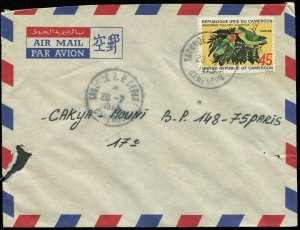 Cameroon 1973 Parrot Stamp on Cover (353)