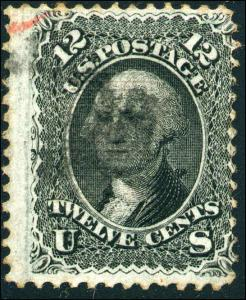 1868 US #97 A28 12c Used F. Grill Stamp Catalogue Value $250