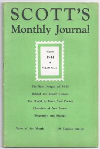 Scott's Monthly Journal - March 1944 Vol 25 No 1 (WW II stamp collecting)