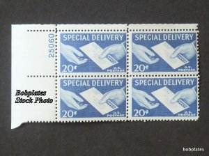 BOBPLATES #E20 Special Delivery Upper Right Plate Block #25060 F-VF NH DCV=$3