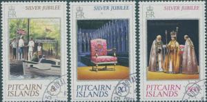 Pitcairn Islands 1977 SG171-173 Silver Jubilee set FU