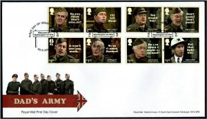 HERRICKSTAMP GREAT BRITAIN Sc.# 3738-45 Dad's Army First Day Cover - Thetford
