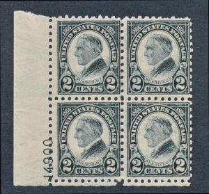 UNITED STATES 612 MINT HINGED (ONE STAMP), F-VF, PLATE 4