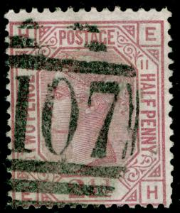 SG141, 2½d rosy mauve PLATE 11, USED. Cat £60. EH