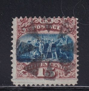 118 used neat cancel with nice color cv $ 800 ! see pic !