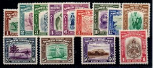 NORTH BORNEO SG303/15 1939 SHORT SET TO $1 MTD MINT