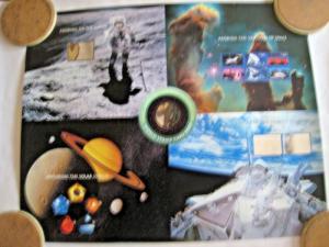 FULL PRINTER'S SHEET OF 5 U.S. SPACE EXPLORATION - SCOTT #3409-3413 - MNH