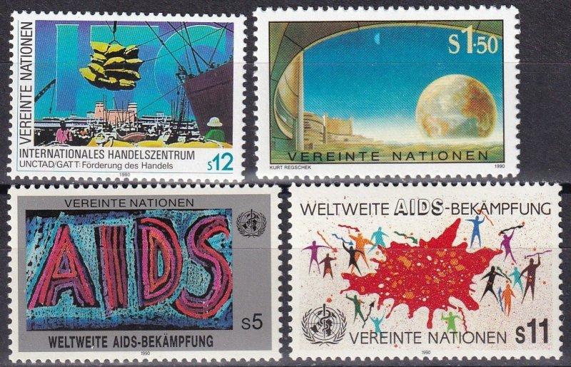 United Nations Vienna #97-100  MNH  CV $4.70  (Z5985)