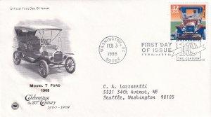 1998, Model T Ford-1908, PCS, FDC (E12244)