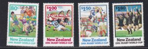 New Zealand # 1054-1057, Rugby World Cup, NH, 1/2  Cat.