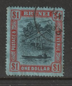 Brunie the $1black & red on blue good used from the 1924 set
