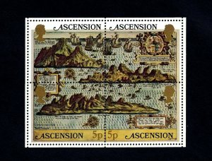 ASCENSION - 1981 - MAP - MAP OF ASCENSION - 4 X MINT - MNH S/SHEET!