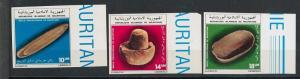 MAURITANIA -  SCOTT 545 / 547 : ARCHEOLOGY / Prehistory - IMPERF 1983