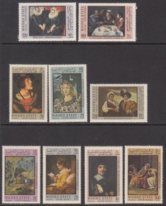 South Arabia Mahra MI 48-56 Paintings MNH VF