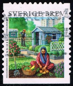 Sweden #2511a Girl and Man Gardening; Used (1.50)