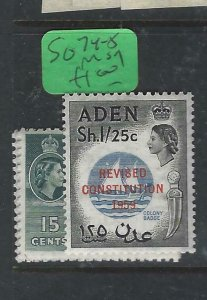 ADEN  (PP0807B)  QEII  SF 74-5  MOG