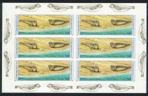 Turkmenistan WWF Caspian Seal 2v Accompanying stamps IMPERF SHEET RARR SG#33+37