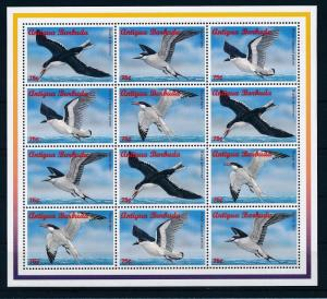 [32904] Antigua & Barbuda 1996 Birds Vögel Oiseaux Ucelli   MNH Sheet