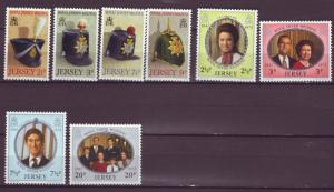 J14124 JLstamps 2 dif 1972 great britain jersey sets mnh/mh #69-76 designs