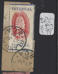 BRITISH CENTRAL AFRICA  (P2909B)  1D  CHEQUE STAMP  SG 56A   SON CDS   VFU