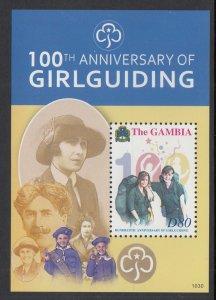 Gambia 3310 Girl Guides Souvenir Sheet MNH VF