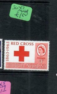RHODESIA & NYASALAND (P1206B)  QEII SG 47  RD CROSS       MNH