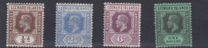 LEEWARD ISLANDS  1931 - 32   S G  81 - 87  VARIOUS VALUES TO 1/-  MH  CAT £115