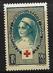 FRANCE B81 MINT HING 75TH ANNIVERSARY OF RED CROSS SOCIETY