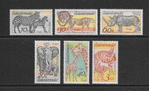 CZECHOSLOVAKIA #2084-89  ZOO ANIMALS   MNH