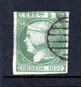 Spain #15 Queen Isabella II 1852 issue (Used) cv$125.00+++