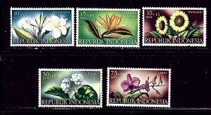 Indonesia B104-08 MNH 1957 Flowers