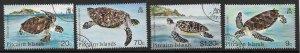 PITCAIRN ISLANDS SG281/4 1986 TURTLES FINE USED