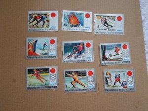 1972 BURUNDI STAMPS CTO MH COMPLETE SET OLIMPICS SC# 385- 93