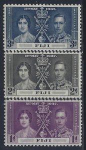 Fiji, Scott #114-116; King George VI Coronation, MH